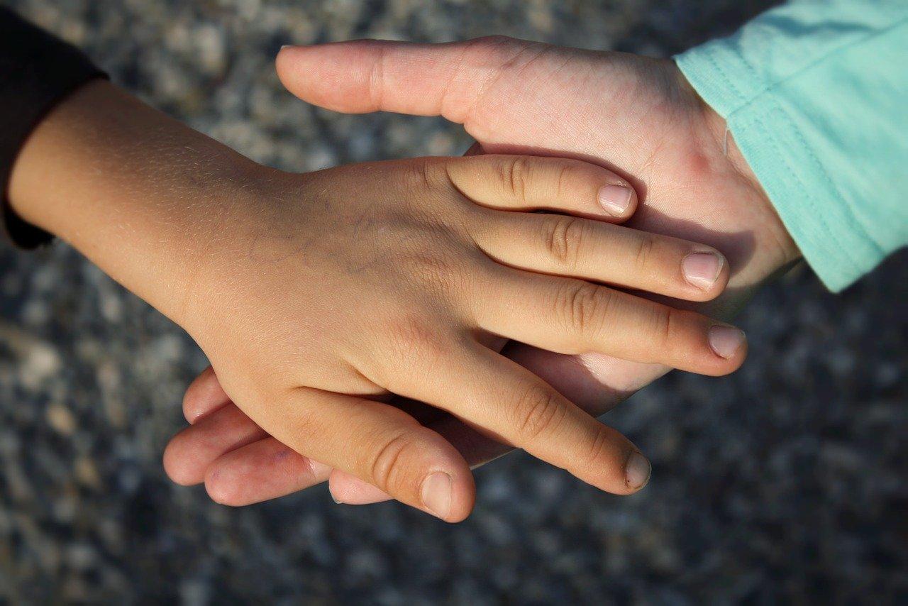 hand, child, children