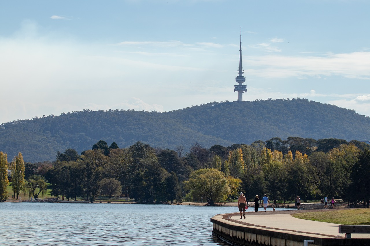 canberra, water, lake