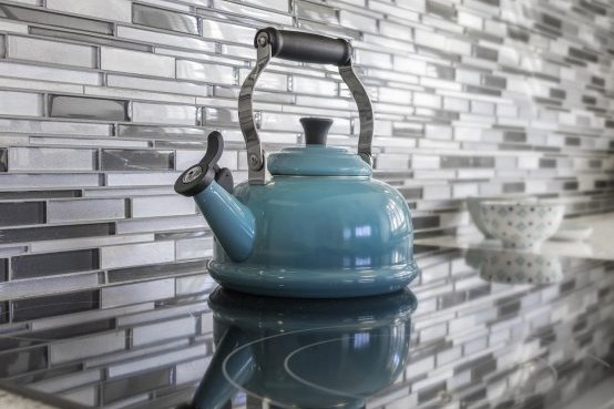 kitchen, teapot, blue